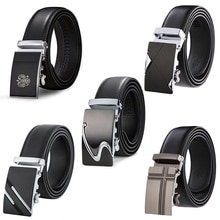 Genuine Leather Belts For Men Automatic Male Belts Cummerbunds Leather Belt Men dropshipping Black B
