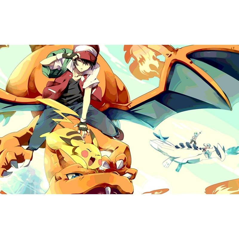 Takara Tomy Pokemon tapete de escritorio de Pikachu Lugia Mousepad Charizard monstruo dragón entretenimiento familiar juego almohadilla de goma