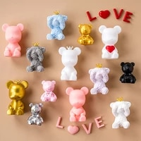 violent bear cake decoration personality simple style girl birthday cake toppers happy birthday wedding party supplies souvenir