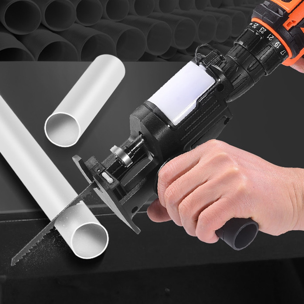 Hand Tool Cordless Reciprocating Saw Adapter Electric Drill To Saw Converter With Lube Container Wood Metal Cutter Saw Adapter