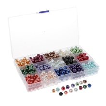 510pcs 8mm Mixed Colourful Beads for Jewellery Making Crafts DIY