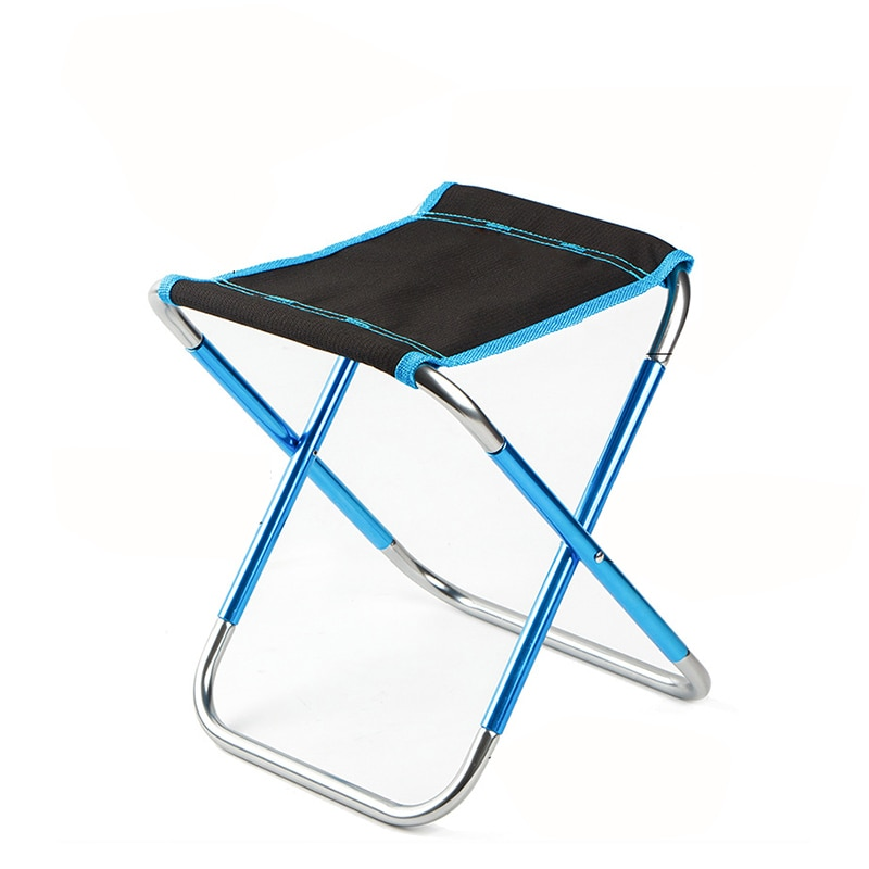 portable aluminum folding chair stool seat outdoor fishing camping picnic padded folding chair fishing 1 PCS Portable Camping Beach Chair Lightweight Folding Fishing Outdoor Camping Ultra Light Picnic Seat Fishing Tools Chair
