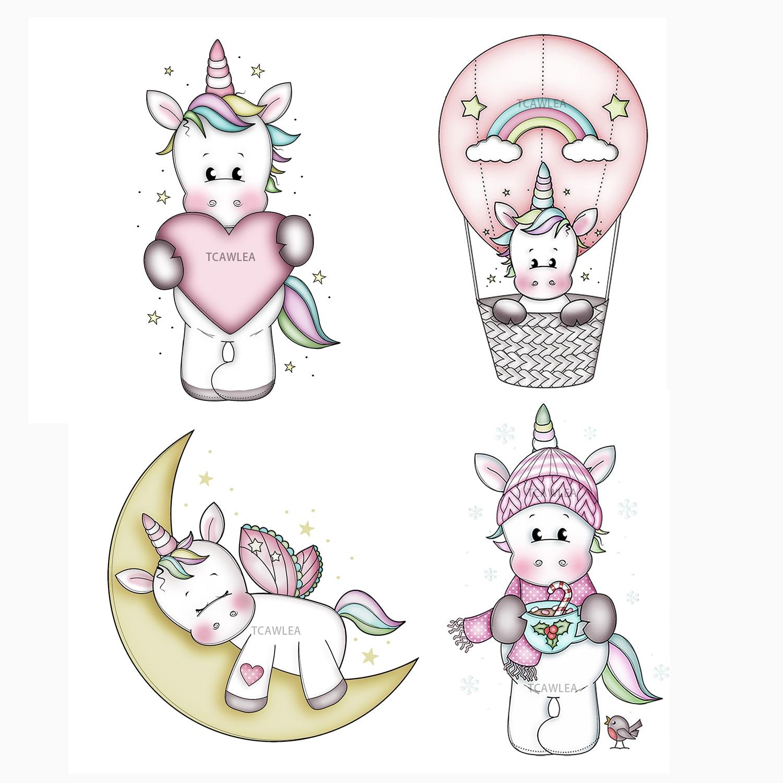 Lovely Unicorn Girl Metal Cutting Dies Doll Stencil for DIY Scrapbooking Embossing Dies 2020