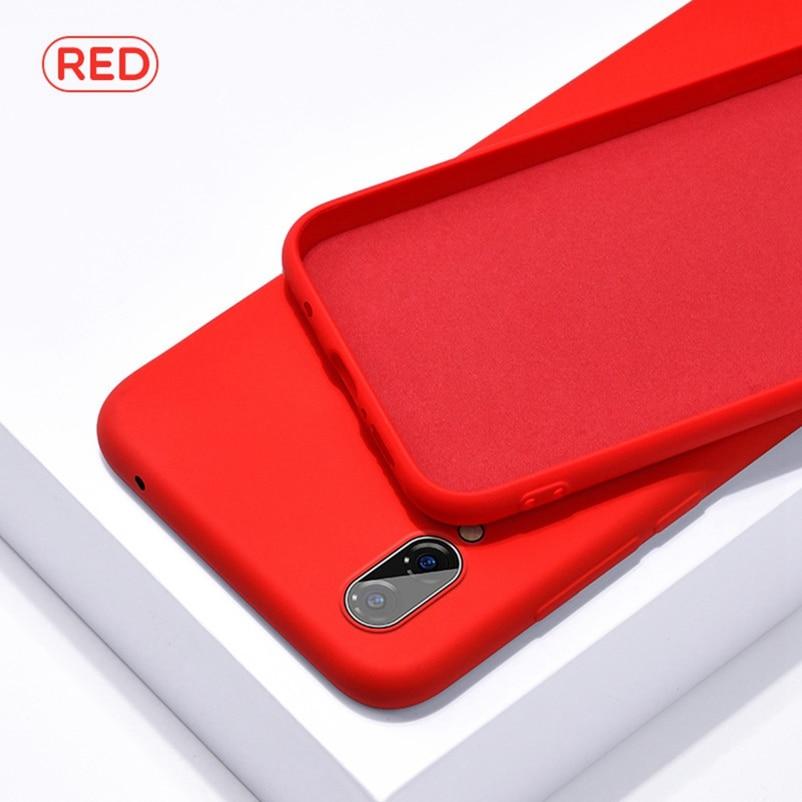 Funda oficial Original para Xiaomi Redmi 7A 6A Note 7 6 K20 Pro Go MIX 2S 2 3 MI 9 A2 8 lite CC9 E 9T, funda de silicona líquida 1