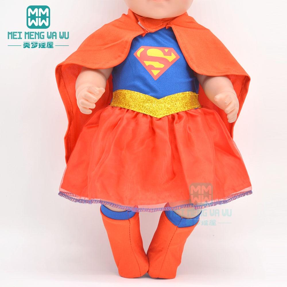 Одежда для куклы, размер 43 см, игрушки, куклы для новорожденных, аксессуары и 45 см, американская кукла, мультики, платье + плащ