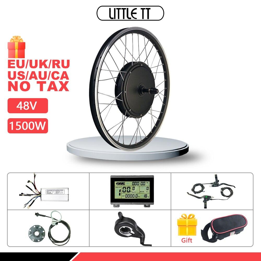 Bicicletta elettrica Kit di Conversione di 48V 1500W Motore del Mozzo Posteriore Ruotare Ruota 20-29 pollici 700C Per Ebike kit di conversione