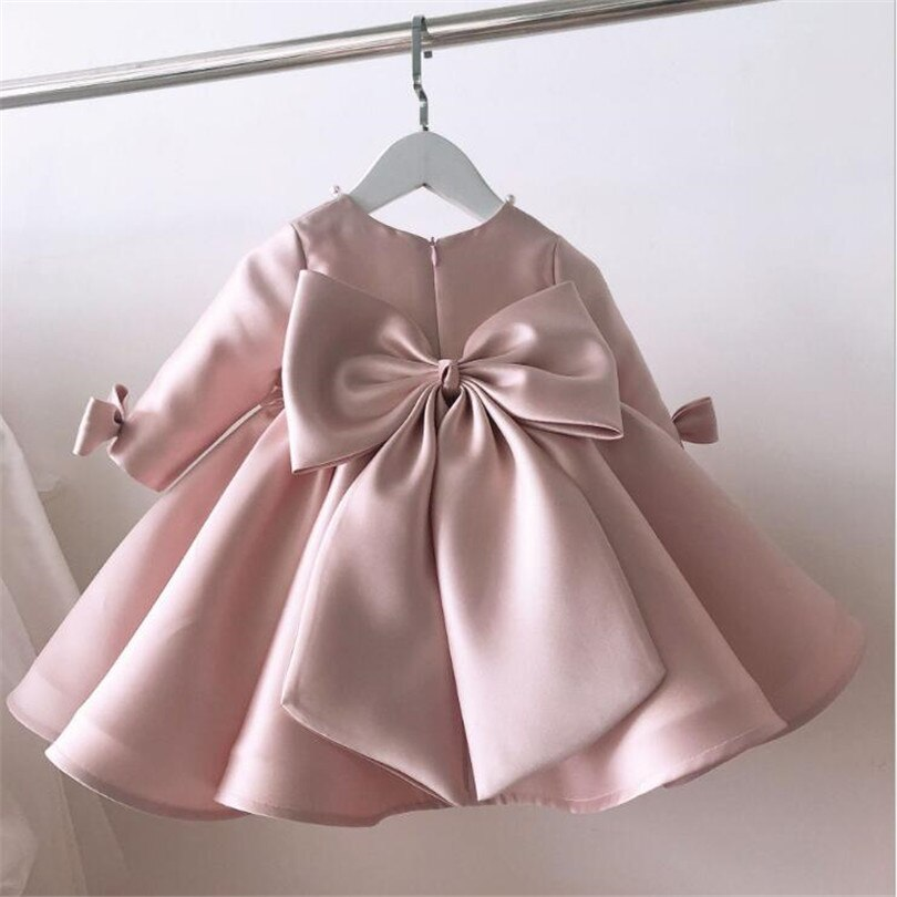 Girls Dress Wedding Party Princess 1St Birthday Baby Dress For Girl Lace Kids Dresses For Girls Ball Gown Toddler Tulle Dress newborn girl infant baby birthday wedding party dress ball gown princess lace up long sleeve front bow kids girl clothes