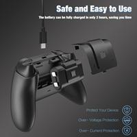 Набор для зарядки аккумуляторов игровых ручек для контроллера Xbox/серии X, 2 перезаряжаемых аккумулятора 1000 мАч 2,4 В