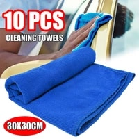 10pcspack cleaning towel soft cloths towels cleaning duster microfiber car wash towel water absorption anti static wash towel