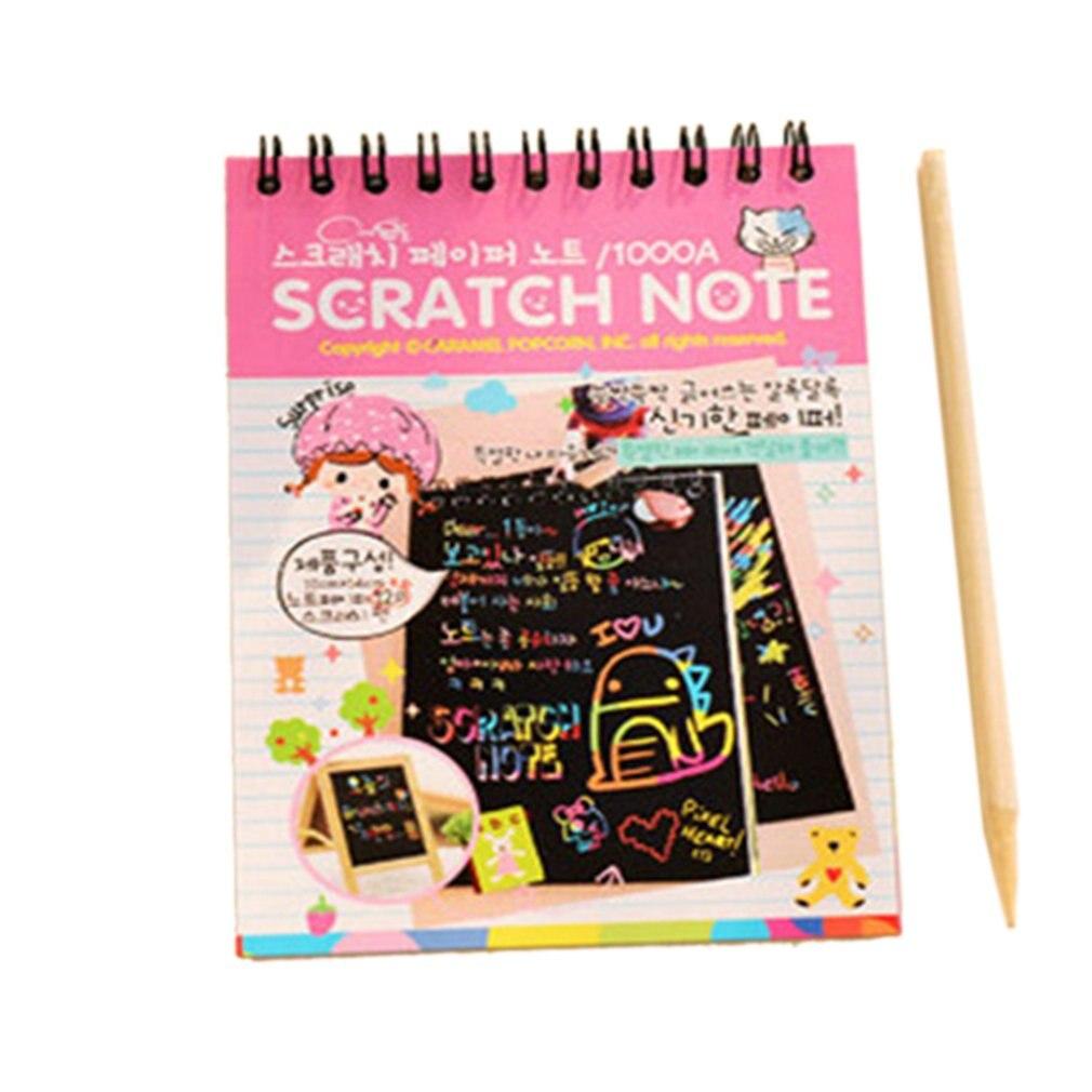 Y031, Color creativo Diy, bobina, imagen para raspar, dibujo de grafiti para niños, libro para pintar y rayar, azul