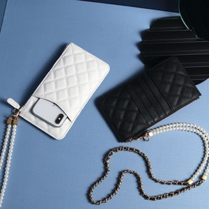 Diamond Lattice Pattern Phone Wallet Mobile Phone Bag Small Crossbody Bag Case Credit Card Case