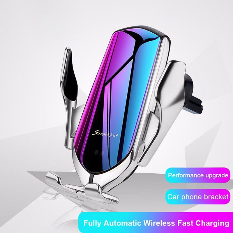 Dropship Automatic Clamping 10W Car Wireless Charger For iPhone Android Infrared Induction Qi Wireless Charger Car Phone Holder