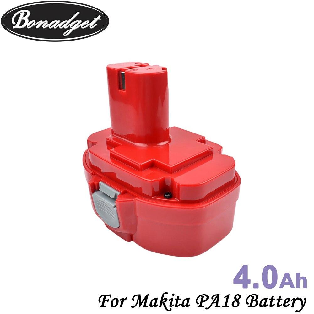 Bonadget 4000mAh 18V Batterie Rechargeable Ni-MH POUR Makita PA18 1822 1833 1834 1835 192827-3 193102-0 193159-1 Outil Batterie
