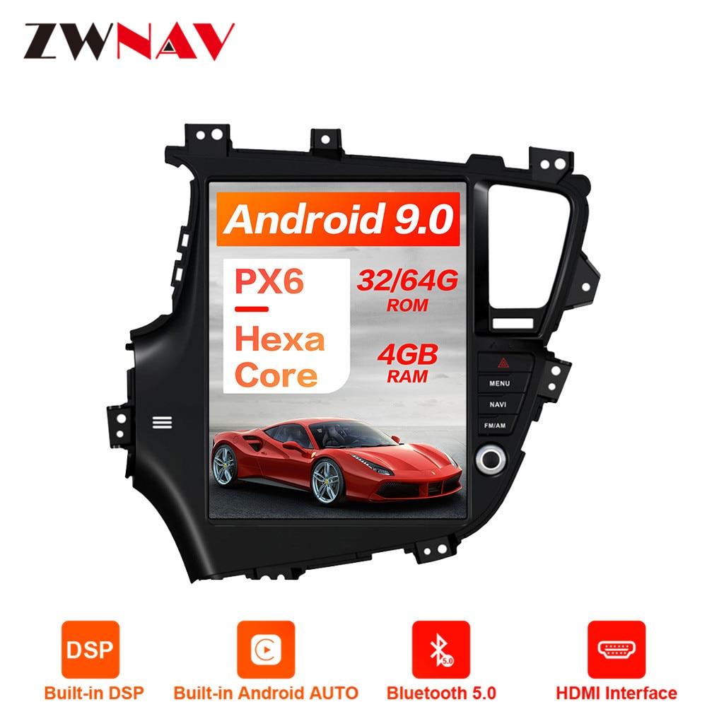 Tesla style Android 9.0 Car GPS Navigation car No DVD Player For KIA Optima/KIA K5 2010-13 car stereo headunit Multimedia player
