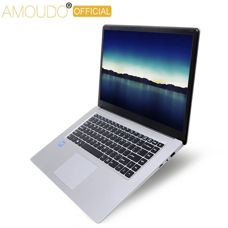 Amoudo 15,6 pulgadas 1920*108 IPS pantalla Intel Quad Core CPU 4GB Ram 64GB Rom Win10 ordenador portátil
