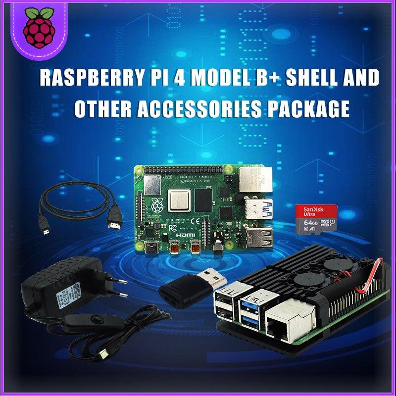 Original Raspberry Pi 4 2GB 4GB de RAM + caja de aluminio...