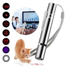 3-In-1 Mini Red Laser Pointer Pen USB Rechargeable 3 In 1 Red Light + White LED Torch Light + UV Fla