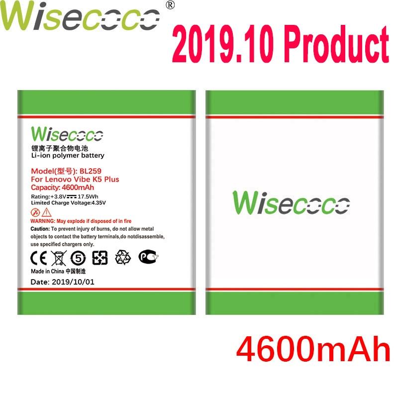Batería WISECOCO 4600mAh BL259 para Lenovo vibe k5 plus K32C30 K32C36 teléfono móvil última producción de batería con número de seguimiento