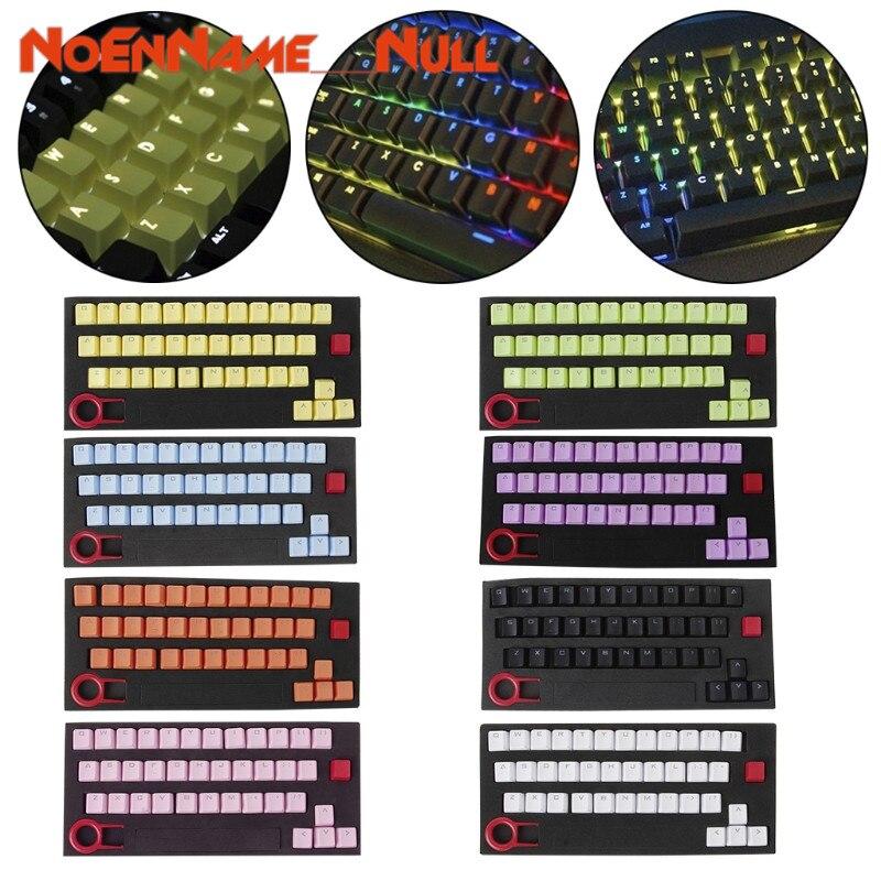 Teclas de Teclado mecânico PBT Keycaps substituíveis 37 Double shot Translucidus Teclas de Teclado Mecânico Backlit