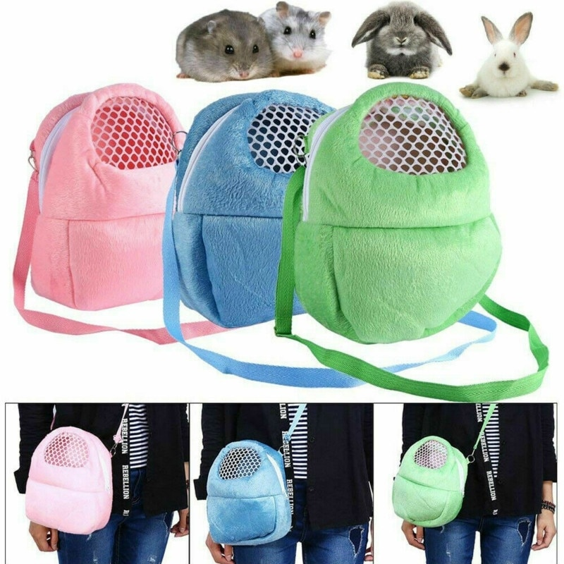 Small Pet Carrier Rabbit Cage Hamster Chinchilla Travel Warm Bags Guinea Pig Carry Pouch Bag Breatha