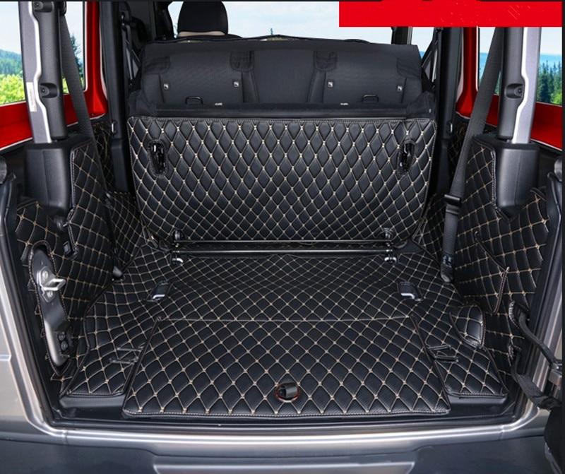 ¡De alta calidad! Set completo de esteras para maletero de coche para Jeep Wrangler JL 2 puertas 2020 alfombra impermeable para maletero Wrangler 2019