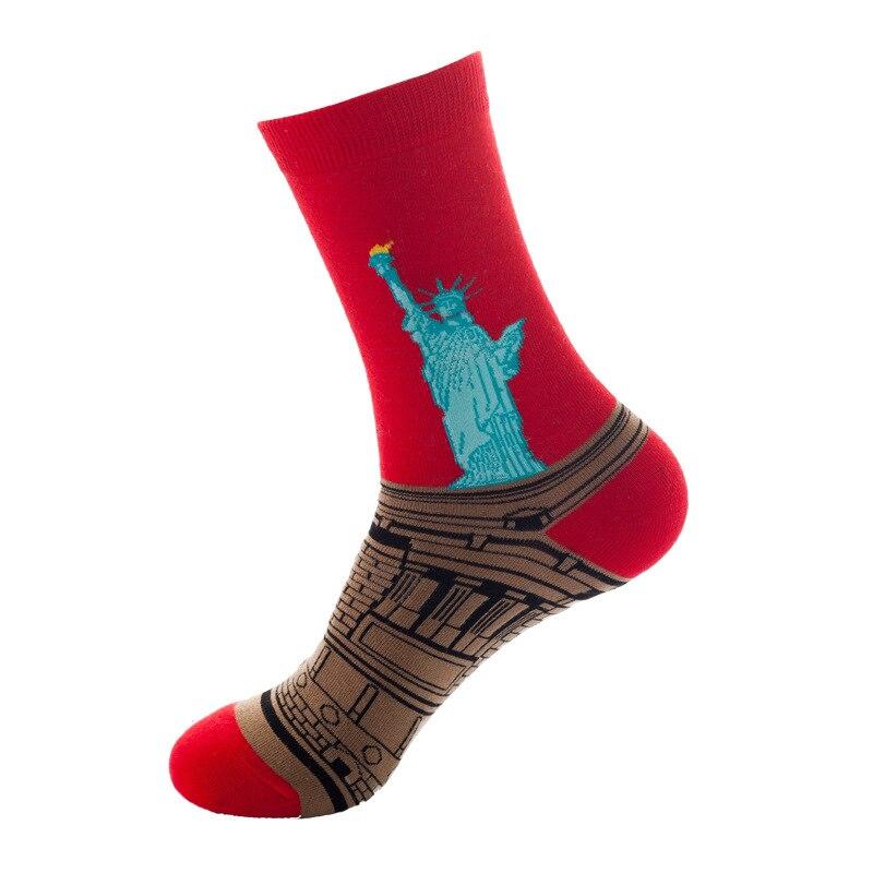 Мужские носки, модные персональные носки с аниме-рисунком, модные мужские забавные Носки с рисунком