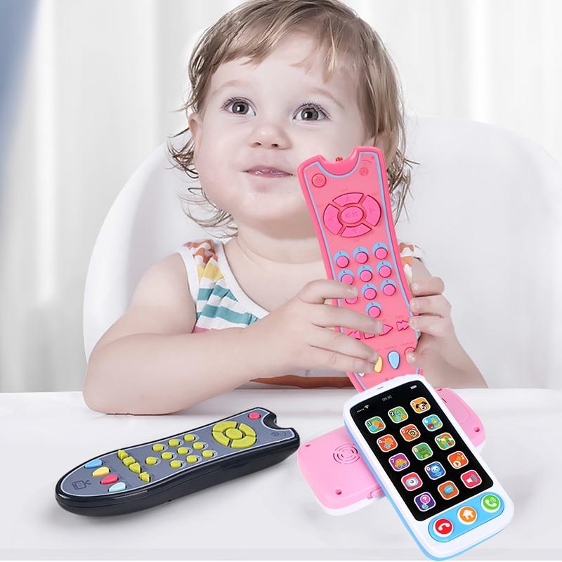 Новинка, детская музыкальная игрушка, яркий электрический пульт дистанционного управления для телевизора, Обучающие номера, игрушки для де...