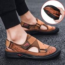 Verão respirável sandálias brook sapatos toe boné pé sandálias ao ar livre dos homens zapatos de hombre sandalias hombre sandalias hombre