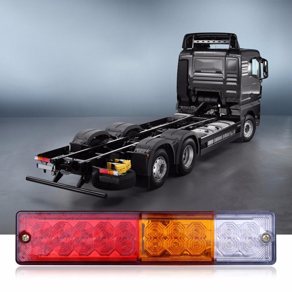 2 pièces 20 led s 12V étanche remorque feu arrière feu de recul camion lumières lampe en cours dexécution tour frein à LED Yacht queue voiture U5F2