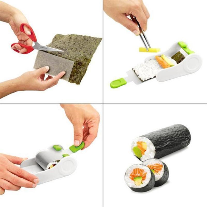 Magic Kitchen Sushi Maker DIY Sushi Roller Mold Rice Meat Vegetables Roll Mold Easy Sushi Making Machine Kitchen Gadget