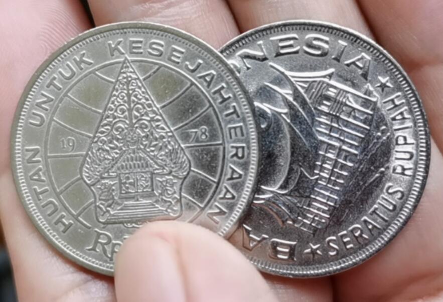 28mm indonésia 1978, 100% real genuína comemorative coin, coleção original