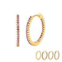 Серьги-кольца женские из серебра 925 пробы, с застежкой