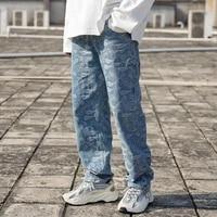 women pants jeans west coast brand full print cashew jeans men and women leisure jacquard straight pants