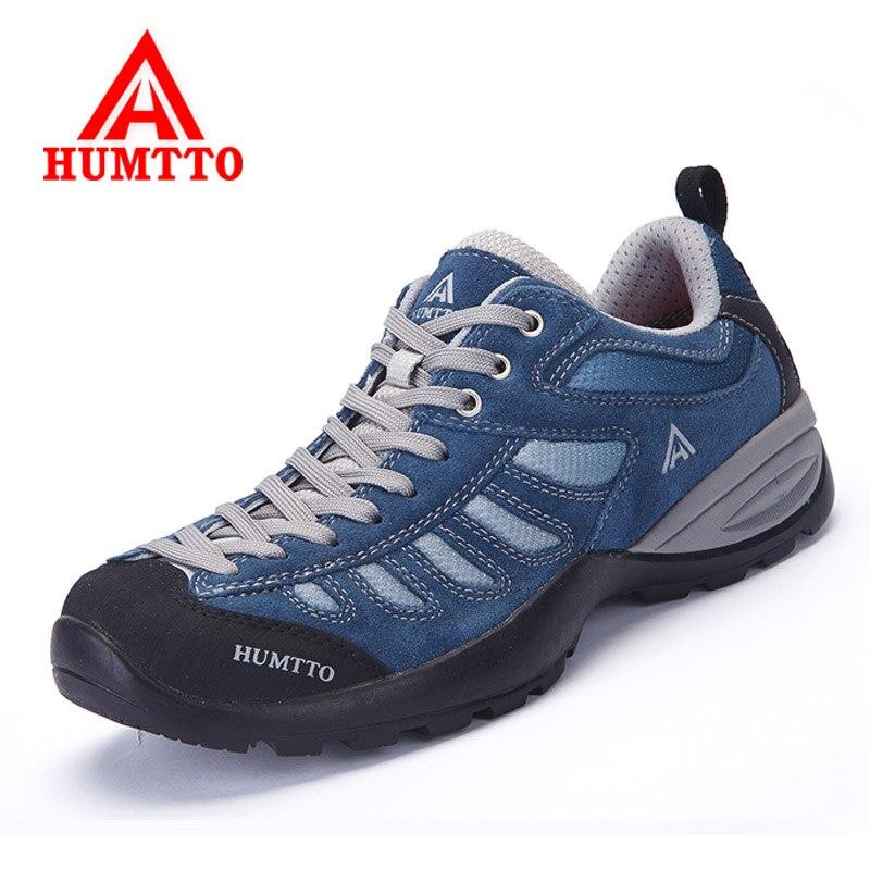 Humtto-zapatos de Senderismo de cuero genuino para hombre y mujer, zapatillas deportivas...