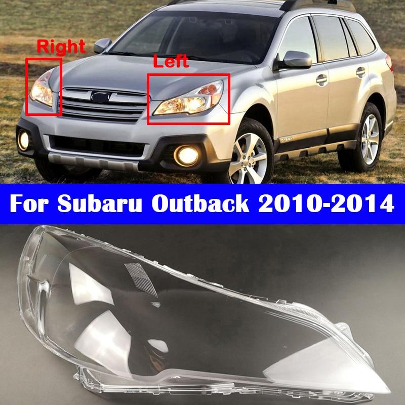 Auto Headlight Lens Glass Cover For Subaru Outback 2010-2014 Car Headlamp Shell Transparent Lampshade Light Caps
