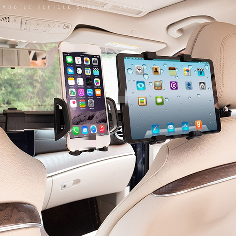 Car Phone Holder Bracket Car/Truck Back Seat Headrest Phone Mount Holder for iPad Tablet Computer Rear Seat Universal Support