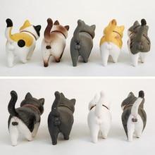 1 pièces mignon Mini PVC Animation modèle chat poupée Figures jouet créatif individualité artisanat ornements tableau de bord balcon décoration