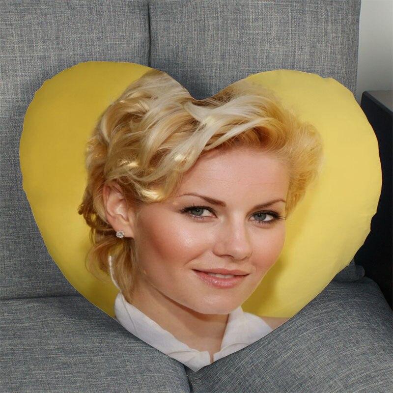 Наволочка Elisha Cuthbert для дома и офиса, свадебная декоративная наволочка в форме сердца, искусственные Чехлы, атласная ткань, лучший подарок