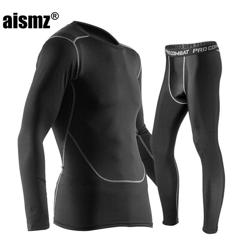 Aismz ropa interior térmica de invierno conjuntos de ropa interior térmica para hombre de secado rápido anti-microbial estiramiento ropa interior térmica para hombre fitness