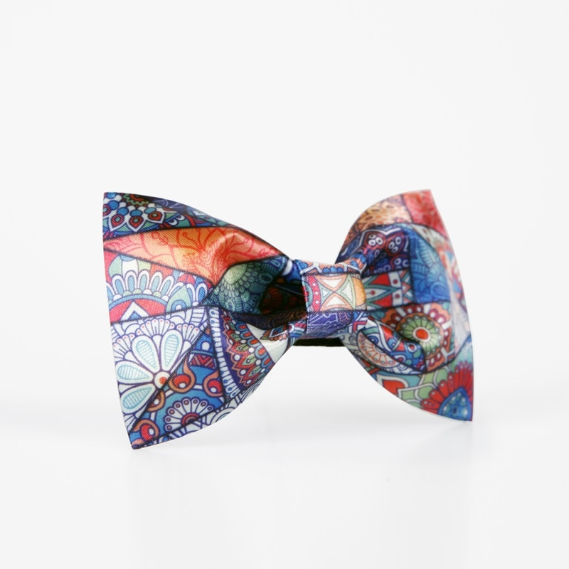 2020 Brand New High Quality Fashion Print Men's Bow Ties Great For Party Groom Wedding Butterfly Tie with Gift Box