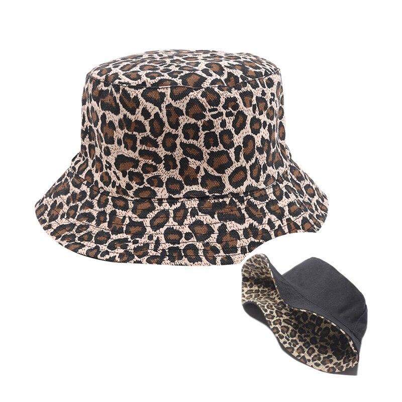 Women Bucket Hats Fashion Leopard Print Summer Spring Casual Bucket Hats Lady Solid Fisherman Hat Girls Gift Femme 2019 baby fisherman hat girls fashion boy hats spring summer cap casual cartoon