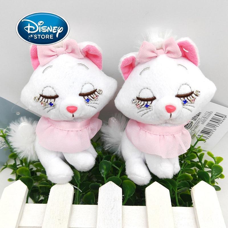 Disney os aristocatas 10cm disney marie, gato de pelúcia, boneca, bonito, mini gato, marie, pingente de pelúcia, acessório, brinquedos de pelúcia, anime, boneca para presente da menina