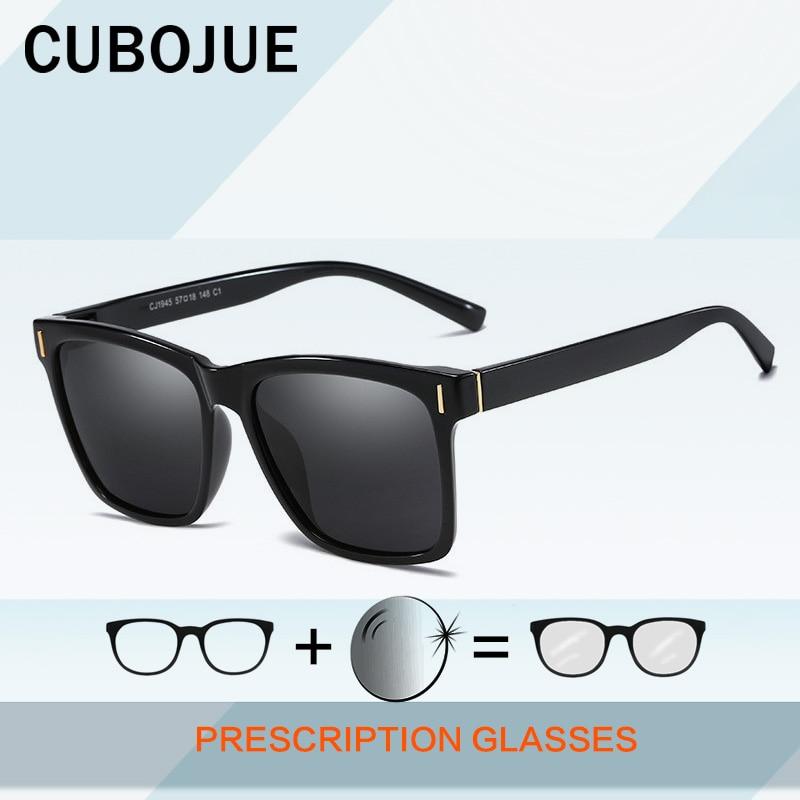 Cubojue-نظارات شمسية للرجال ، عدسات كبيرة الحجم ، مستقطبة ، مرآة لقصر النظر ، ثنائية البؤرة