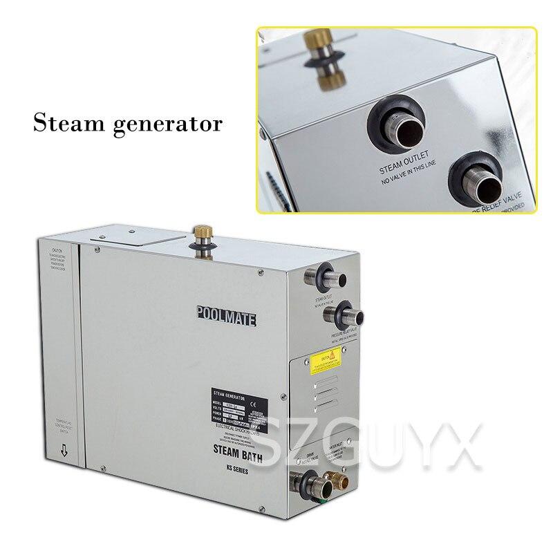 الفولاذ المقاوم للصدأ محرك بخاري التدفئة الكهربائية مولد بخار ساونا موقد الحمام المنزلية التجارية محرك بخاري