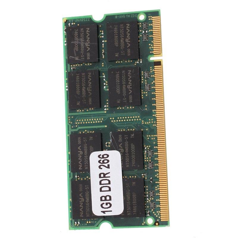 Memoria RAM PC2100 para portátil, 1GB, DDR CL2.5, DIMM, 266MHz, 200 pines