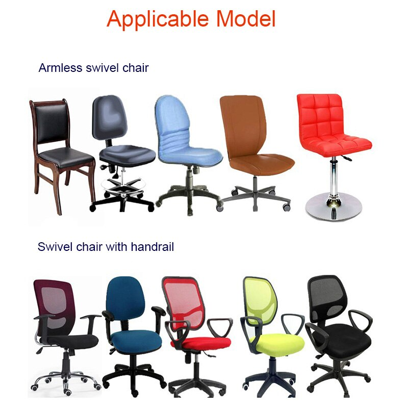Фото - Swivel Chair Cover Stretchable Removable Computer Office Washable Rotating Lift F2 straight stretchable chair cover 4 pcs black