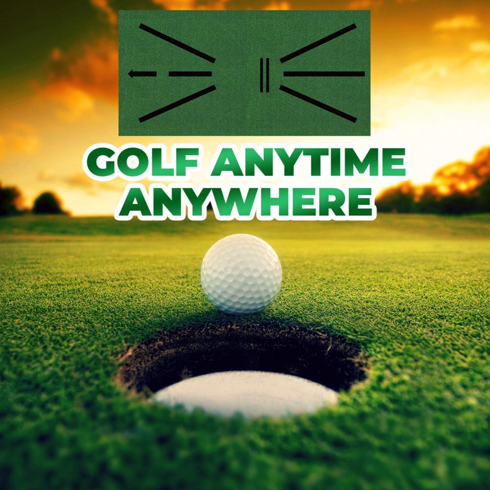 Non-slip Golf Training Pad Foldable Golfer Practice Aid Cushions for Indoor Plastic Push Rod Exercis