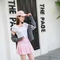 girls cheerleader solid high waist pleated dress female fashion plus size golf shorts autumn badminton sport uniform skirt