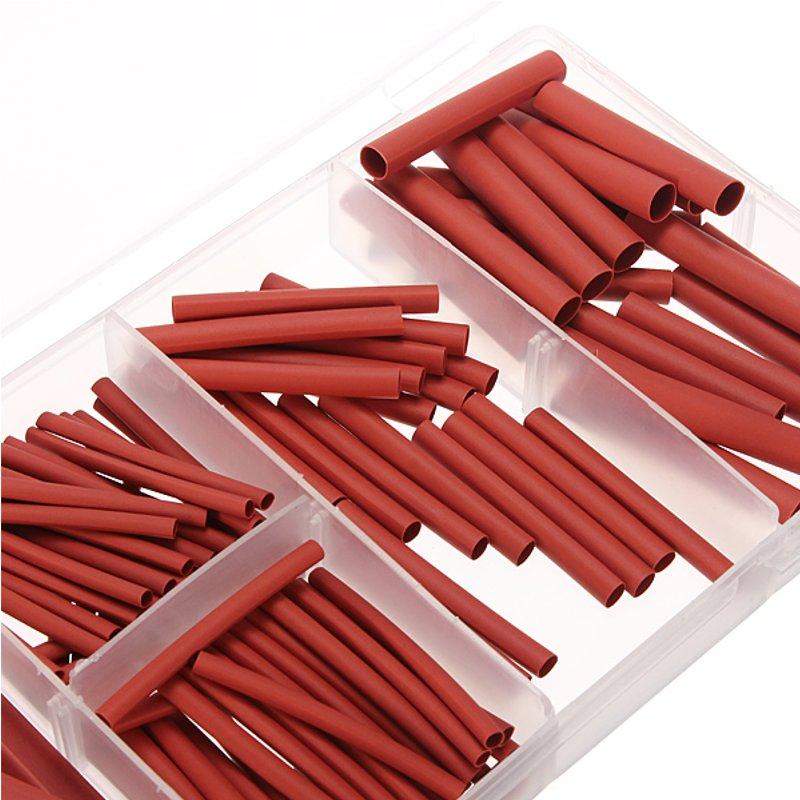 127 pces tubo do fio do psiquiatra do calor envoltório cabo de conexão elétrica luva com caixa vermelho 7 tamanhos isole poliolefin tubulação ferramenta de alimentação