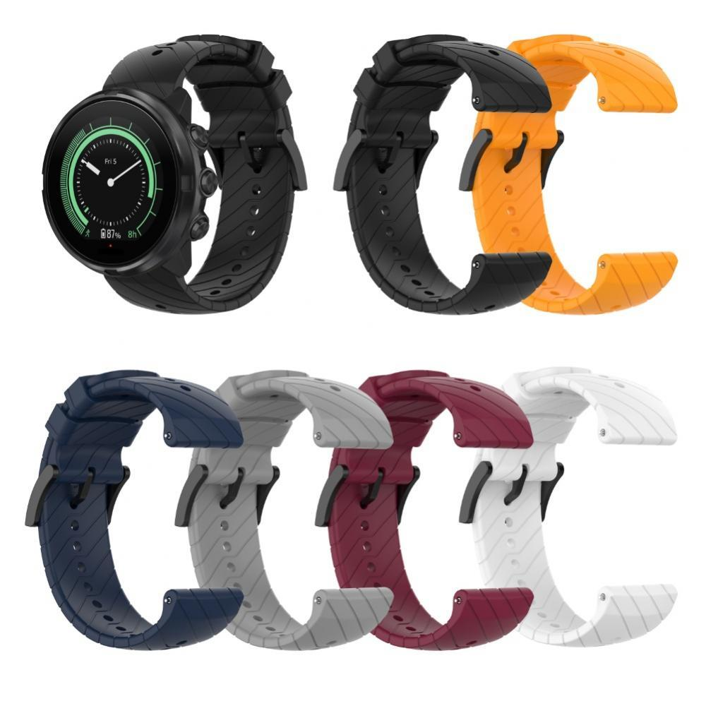 24mm Replacement Silicone Universal Watchband Smart Watch Strap for Suunto 9 Wearable Devices Smart Accessories smart watches mykronoz zetielpg wearable devices wrist watch accessories